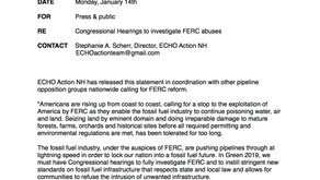Call for Congressional Hearings to investigate FERC abuses (Press Release)