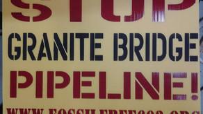 Pipeline warning signs hit the Granite Bridge fracked gas freeway