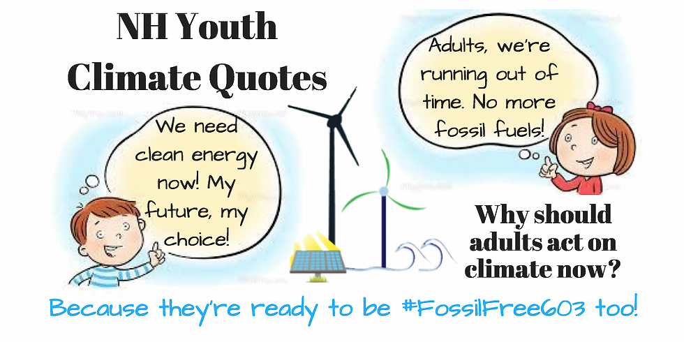 NH Youth Climate Quotes - Messages To Adults