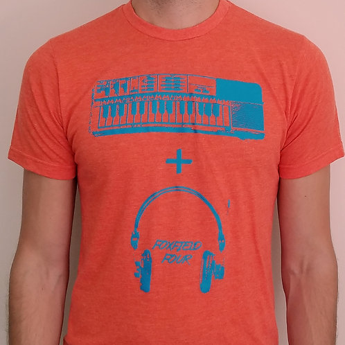 Keyboard and Headphones Tee Orange