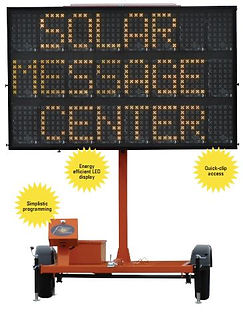SMC 1000 ST, Solar Assistd Message Center Board, Message Board, Work Area Protection