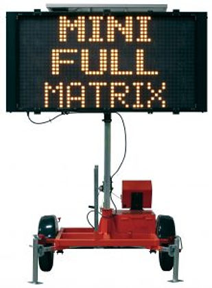 Mini Full Matrix 4000, Solar Assistd Message Center Board, Message Board, Work Area Protection