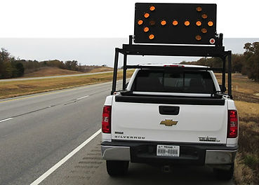 Vehicle Mounted Arrow Boards, Work Area Protection, Solar-Assisted Advanced Warner, TTM Arrow Board