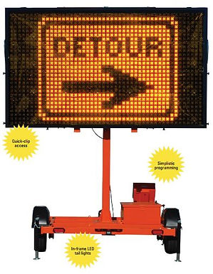 SMC 2000, Solar Assistd Message Center Board, Message Board, Work Area Protection