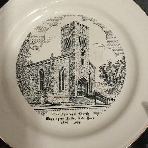Zion Church 125th Anniversary Commemorative Plate