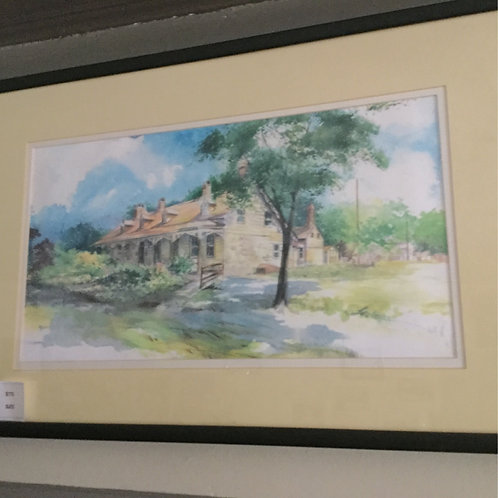 Watercolor of Mesier Homestead - FRAMED