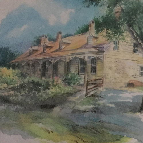 Watercolor of Mesier Homestead - PRINT