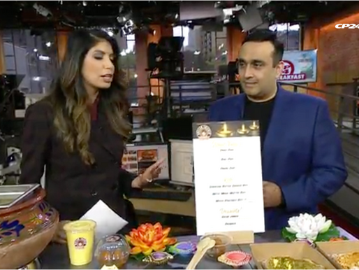 Check us out on CP24 to introduce Diwali and share some delicious food!