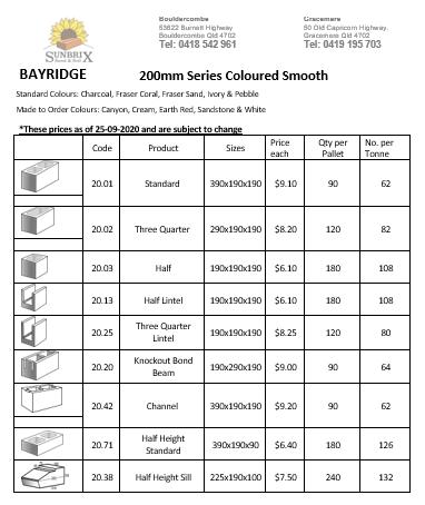Bayridge prices page 2