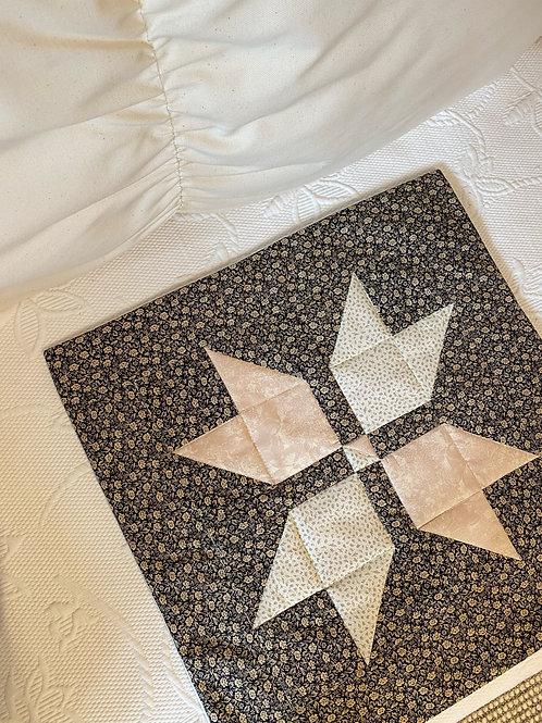 Black Patchwork Quilt Cushion Cover - 50X50cm
