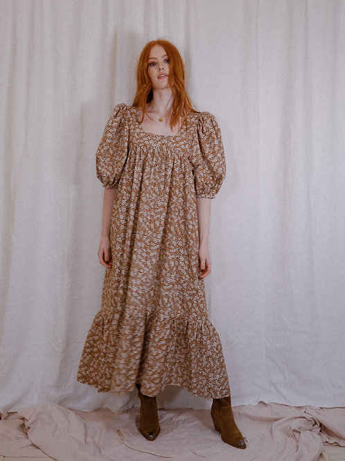 THE OTTO DRESS - BROWN FLORAL