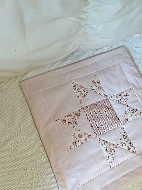 Pink Patchwork Quilt Cushion Cover - 50X50cm