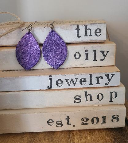 Purple for Luca earrings
