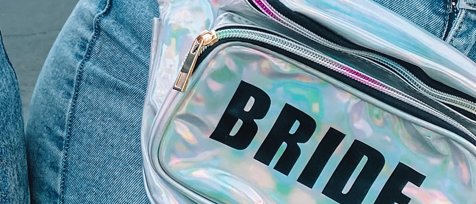 holographic bride fanny pack