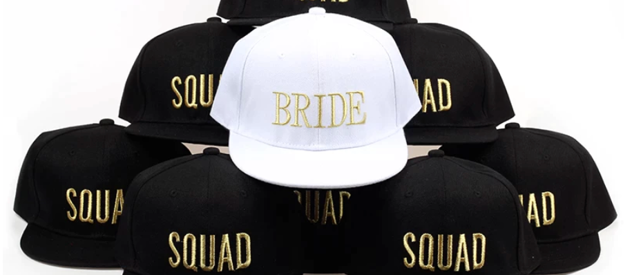 bride + squad hats
