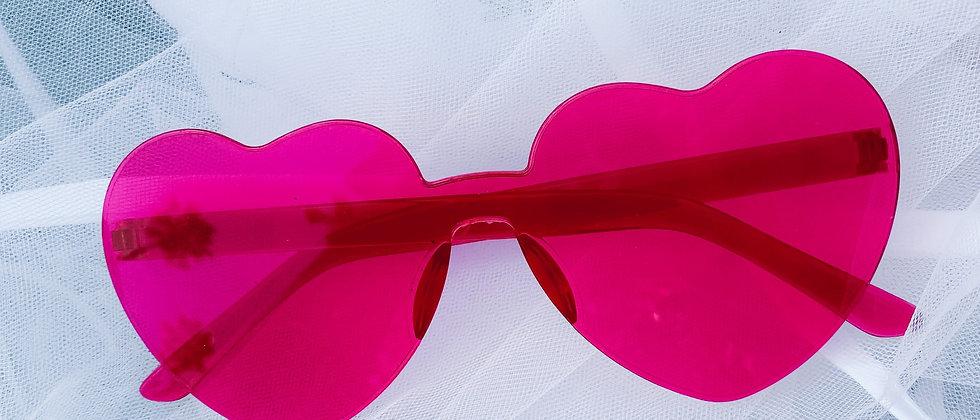 hot pink heart sunnies