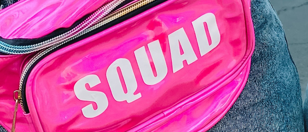 holographic squad fanny pack