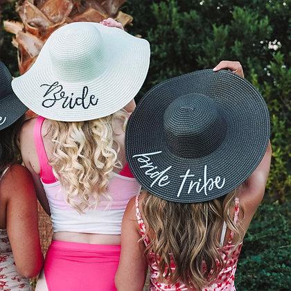 bride tribe sun hats