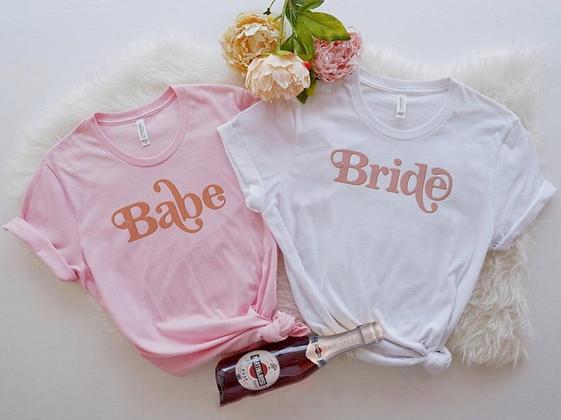 retro bride + babe shirts