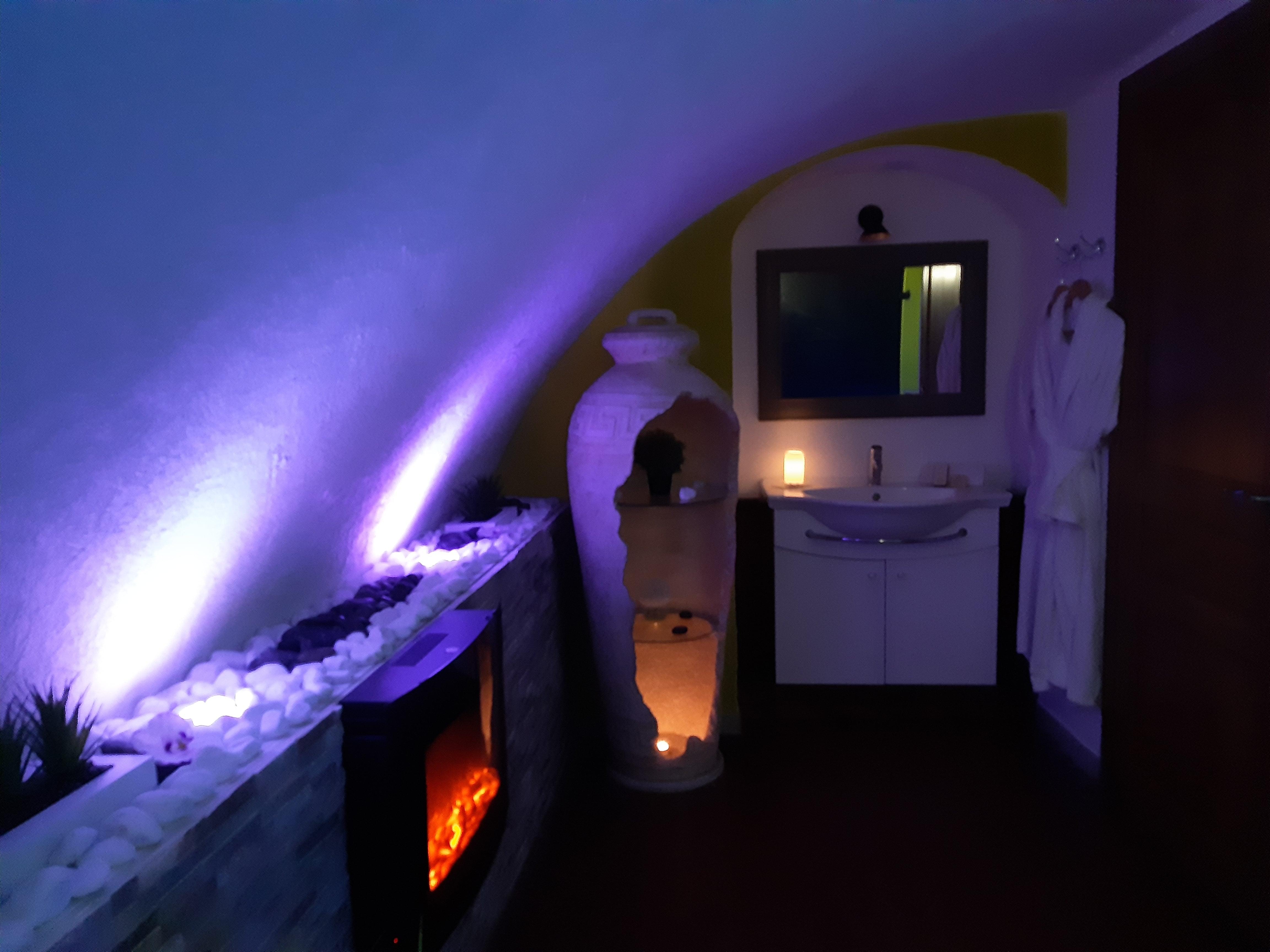 Salle de bain Spa jacuzzi