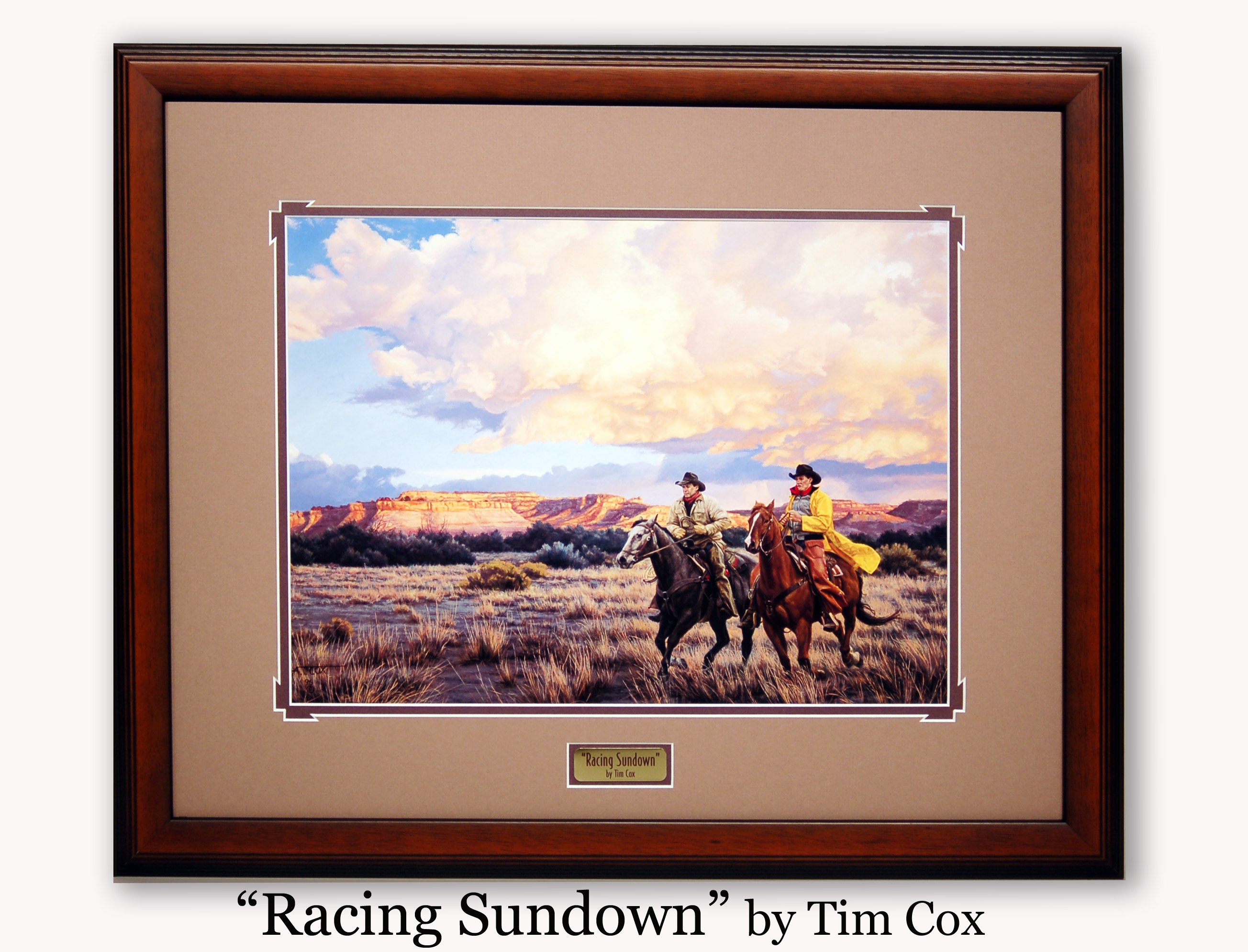 """Racing Sundown"" by tim Cox"