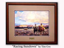 """Racing Sundown"" by tim Cox"