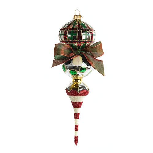 glass drop ornament - savoy holiday triple