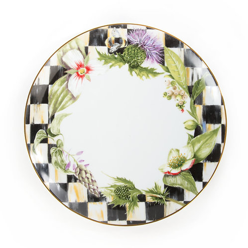 thistle & bee dinner plate - garland