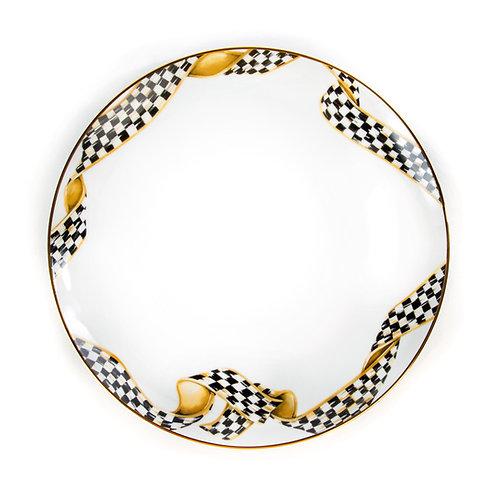 thistle & bee dinner plate - ribbon