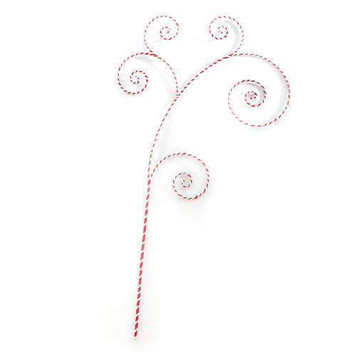 happy holidays peppermint swirl pick
