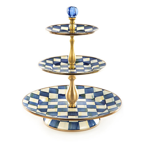 Royal Check Three Tier Sweet Stand