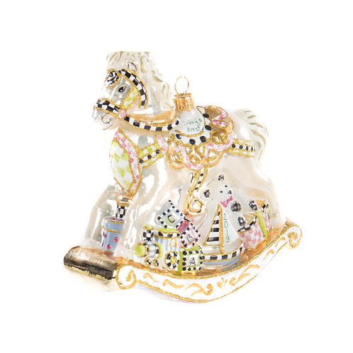 Glass Ornament - Baby's First Carousel Horse
