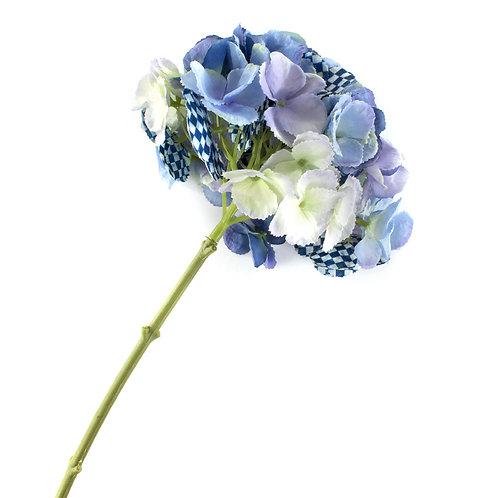 royal check hydrangea - blue