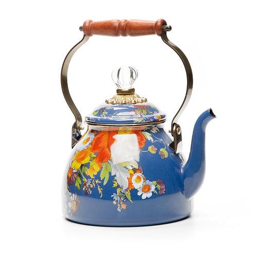 flower market tea kettle - 2 quart - lapis