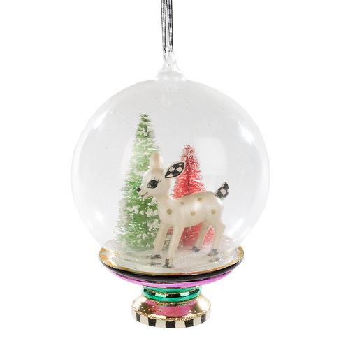 dearest deer cloche ornament