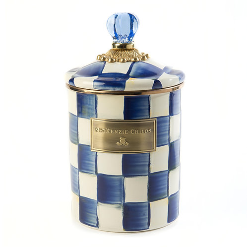 royal check canister - medium