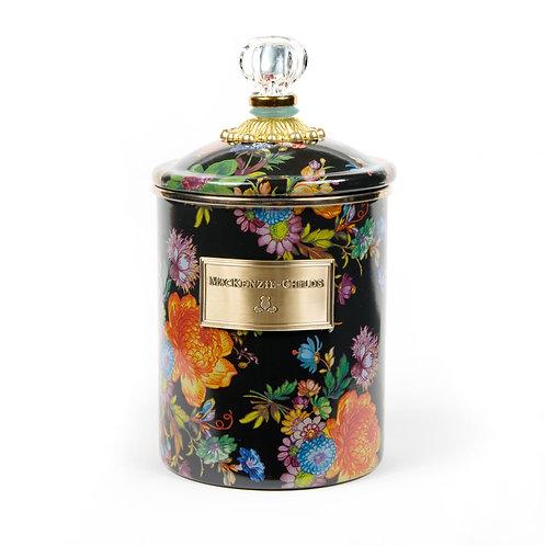 flower market medium canister - black