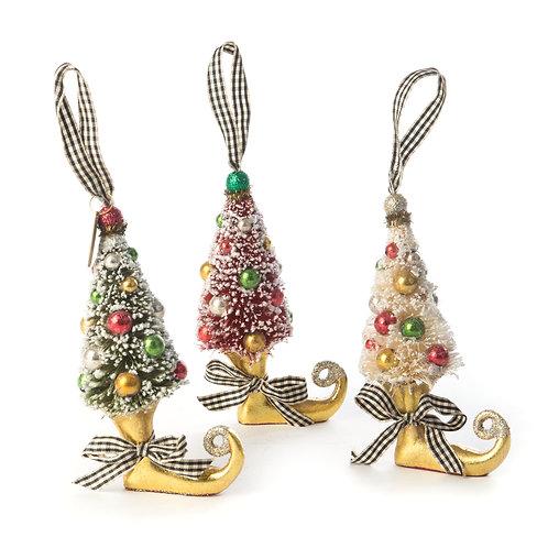 Deck the Halls Elf Boot Ornaments - Set of 3