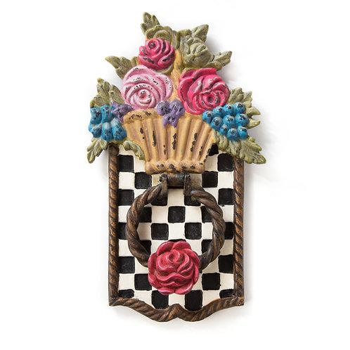 flower basket door knocker