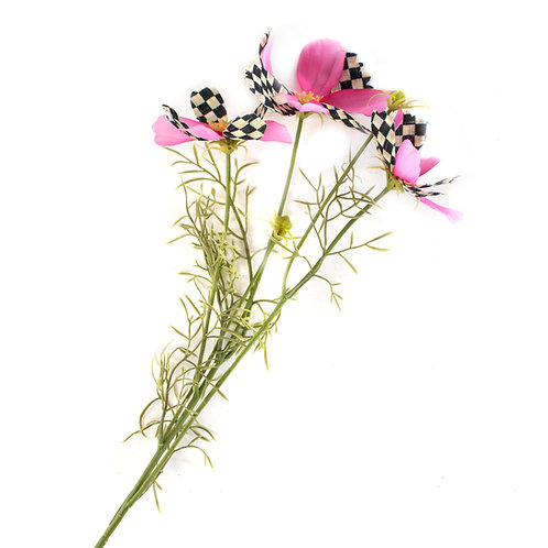 courtly check cosmos spray - pink