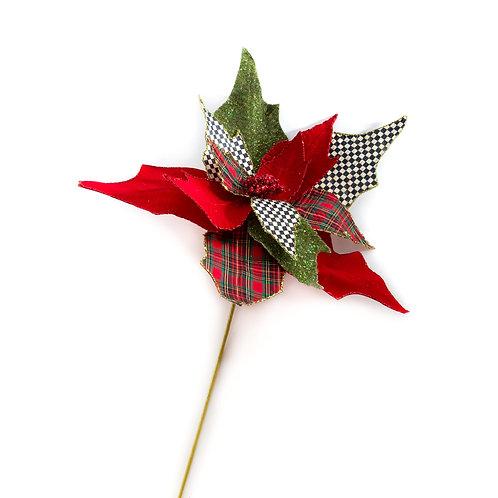 happy holidays poinsettia pick