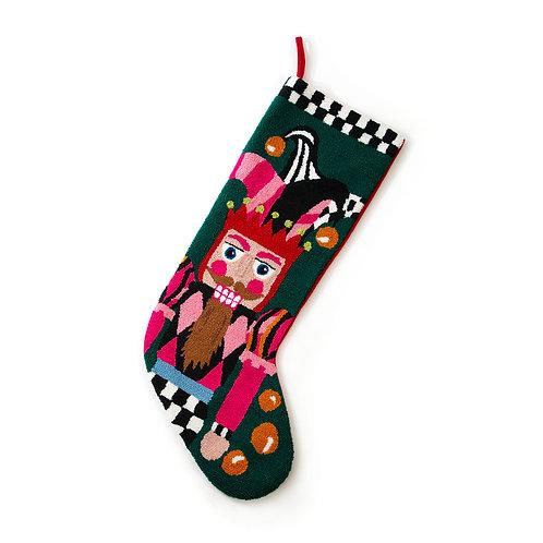 Jumbo Jester Nutcracker Stocking
