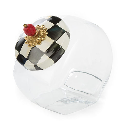 cookie jar with courtly check enamel lid