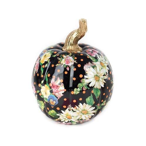 flower market pumpkin - small - black