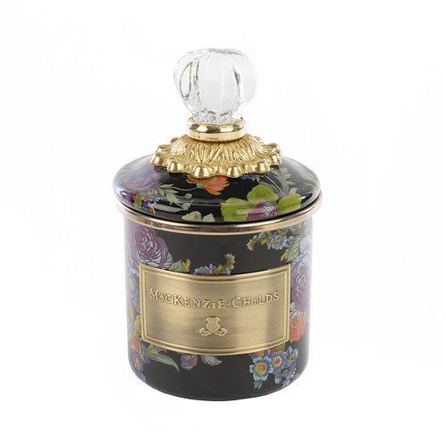 flower market mini canister - black