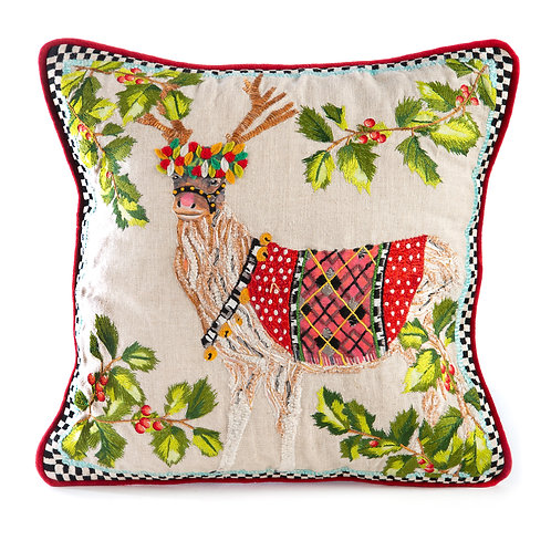Santa's Reindeer Pillow