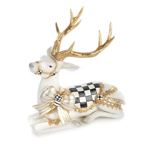 White Bow Tie Deer - Resting