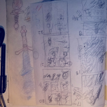 35 Process shot, early pencils