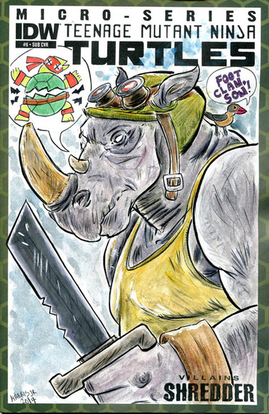 """Rocksteady"" Sketch Cover"