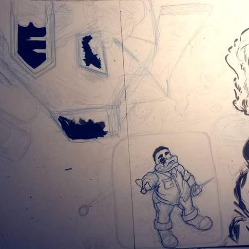35 Process shot, pencils & inks
